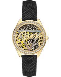 Guess Armbanduhr Analog Quarz Leder W0456L4 - Schwarz