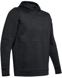 Under Armour Athlete Recovery Fleece Grafik Hoodie T-Shirt pour s - Noir