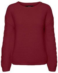 Vero Moda - VMNONAMESTITCH LS Boatneck Blouse Pullover - Lyst