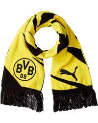 PUMA Bvb Football Fan Scarf Black-cyber Yellow Ua