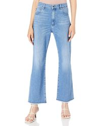 Love Moschino Denim 5-Pockets Cropped Flare fit Trousers - Bleu