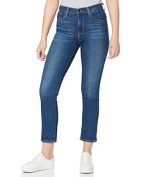 Levi's 724 High Rise Straight Jeans - Azul