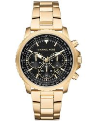 Michael Kors Chronograph Quarz Uhr mit Edelstahl Armband MK8642 - Mettallic