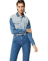 Tommy Hilfiger Tjw Cropped Trucker Giacca in Jeans Donna - Blu