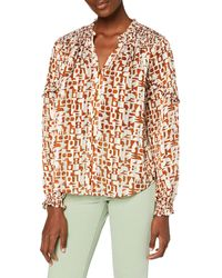 Scotch & Soda Transparentes Shirt mit Print Camicia - Verde