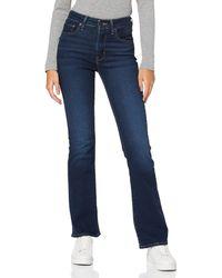 Levi's 725 High Rise Bootcut Jeans - Bleu