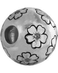 Thomas Sabo Blumenwiese Bead Silber weiß K0025-051-14 - Mettallic