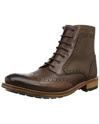 Ted Baker - S Sealls 3 Brogue Ankle Boot - Lyst