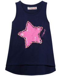 Desigual Reversible Star Poolie Camiseta - Azul