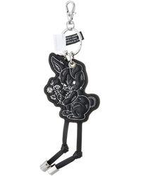 "DIESEL ""dreamadream"" Rabbit-he Keyring Keychain - Black"