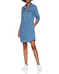 Levi's Ls Iconic Western Dress, Robe Femme - Bleu