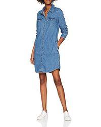 Levi's Ls Iconic Western Dress - Vestido para Mujer - Azul