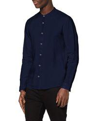 FIND Camisa de Lino de ga Larga - Azul