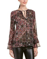 BCBGeneration - Printed Ruffle Sleeve Top - Lyst
