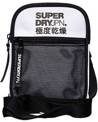 Superdry S SPORT POUCH BAGS - Weiß