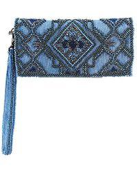 112c7c56f1d3 Lyst - Michael Kors Miranda Wallet With Strap - Geranium in Pink