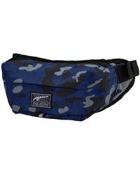 PUMA Academy Waist Bag Blue Depths-Camo AOP - Bleu
