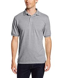 Hanes Short-sleeve Jersey Polo (pack Of 2) - Gray