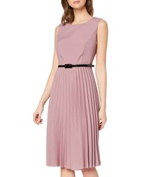 Dorothy Perkins Luxe Dusky Pink Belted Pleat Midi Dress Casual