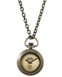 Superdry Ladies Antique Gold Dial Chain Watch - Metallic