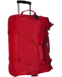Kipling Discover Small Wheeled Duffle - Red