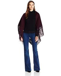 SOIA & KYO - Junie Double Face Wool Wrap With Fringe Detail - Lyst