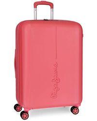 Pepe Jeans Glasgow Orange Big Suitcase 48 X 70 X 28 Cm Rigid Abs Tsa Lock 78 Litre 4 Kg 4 Double Wheels