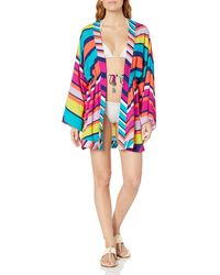 Trina Turk Kimono Swimsuit Cover Up - Blue