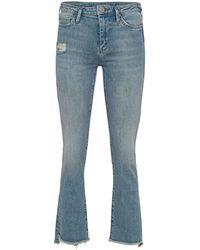 True Religion New Halle Kick Flare Blue Denim Jeans - Blau