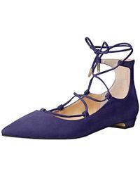Ivanka Trump Tropica Ballet Flat - Blue