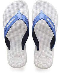 sale retailer d3ce8 d4813 Herren Surf Pro Zehentrenner Weiß (White/Blue Star),47/48 EU (45/46 BR) -  Blau