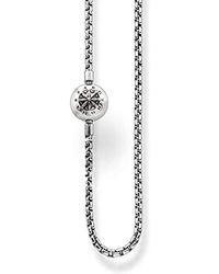 Thomas Sabo Karma Beads, Unisex, Collana, argento sterling 925 niellato - Metallizzato