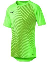 PUMA T-Shirt de Foot ftblNXT Core Graphic pour Green Gecko-Ebony L - Vert