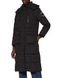 Superdry Longline Everest Coat Jacket - Black