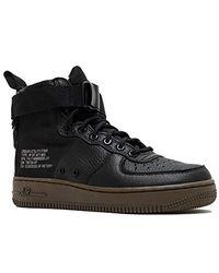 Nike Sf Air Force 1 Mid Running Shoes Black/black-dark Hazel Aa3966-003