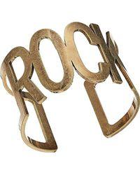 """Steve Madden - S """"rock"""" Open Bangle Bracelet - Lyst"""