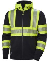 Helly Hansen S Icu Hi Vis Hooded Workwear Jumper Jumper Hoodie - Yellow
