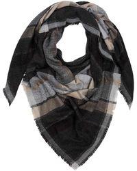 S.oliver RED LABEL Dreieckstuch mit Glitzer-Details dark grey/black check 1 - Grau