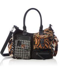 Desigual S Accessories Fabric Shoulder Bag - Schwarz