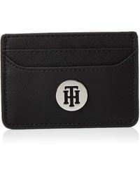 TOMMY HILFIGER Honey Large Flap Wallet Geldbörse Black Schwarz Neu