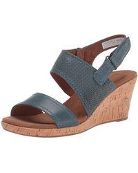Rockport Briah Asym 2 Piece Sandalen mit Absatz - Blau