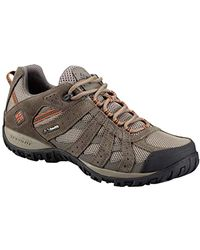 Columbia Redmond Waterproof Wide Hiking Shoe, Pebble, Dark Ginger, 7 2e Us - Brown