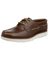 Timberland Bradsteet 3 Eye Sensorflex, Chaussures Bateau Homme - Marron