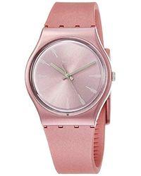 Swatch Analog Quarz Uhr mit Silikon Armband GP154 - Pink