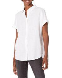 Goodthreads Washed Cotton Short-Sleeve Shirt Button-Down-Shirts - Blanco