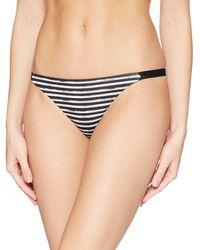 Hurley Quick Dry Compression Printed Bikini Surf Bottom - Black