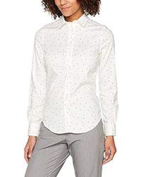 GANT Tech Prep Sprinkled Star Oxford Shirt - White