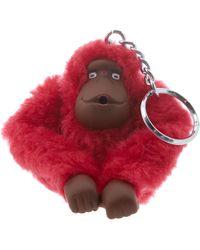 Kipling Monkeyclip M- Portachiavi ad anello e catena Adulto - Rosso