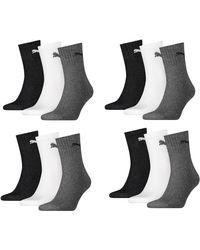 PUMA - , calzini sportivi unisex con suola in spugna, confezione da 12 pezzi - Lyst