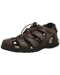 Geox - Uomo Sandal Strada Men's Sandals In Brown - Lyst